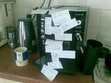 Busted coffee machine