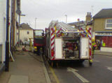 Fire in derelict pub