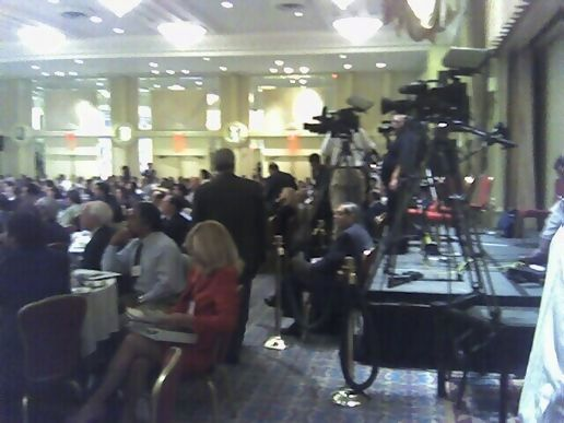 CSPAN, CNN and ESPN at the conference