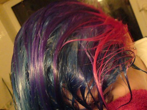 five hours worth of hair-dying