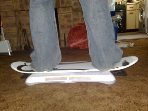 Playing shaun white complete with snowboard attachment!