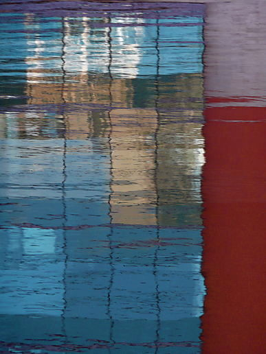 Canal reflection triptych