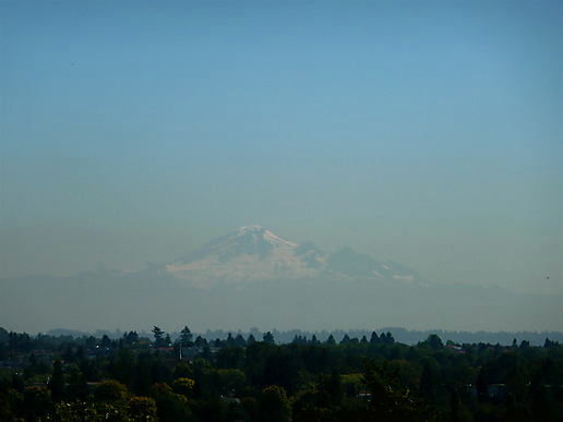 Mount Baker. MOUNT BAKER!!! 50 miles from Vancouver and you can still see it.