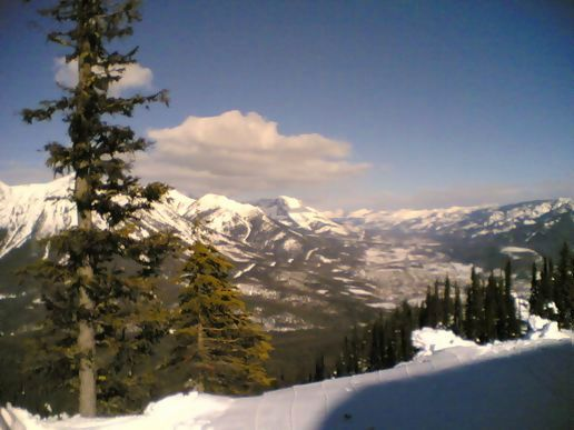 The view from the top of the mountain, Fernie Alpine Resort