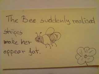 Weight conscious bee !