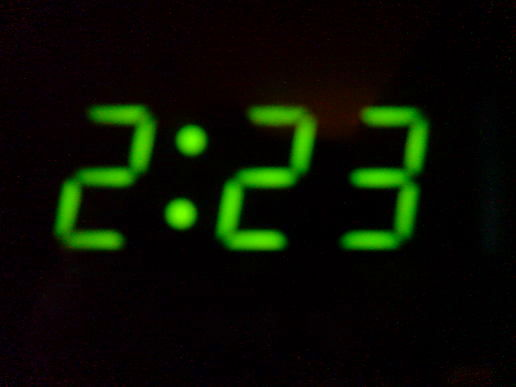 2:23am - back home...