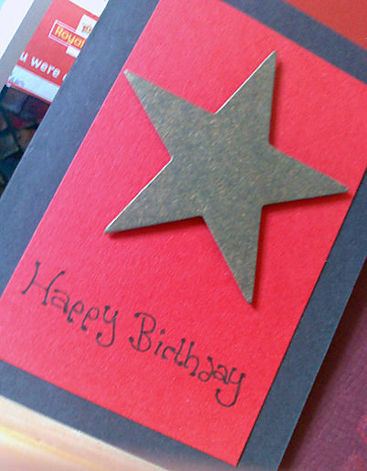 Handmade B Day Cards Rule At The Middle Of Yesterday