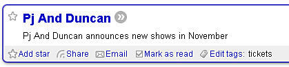See Tickets' RSS Feed goes a bit mental...