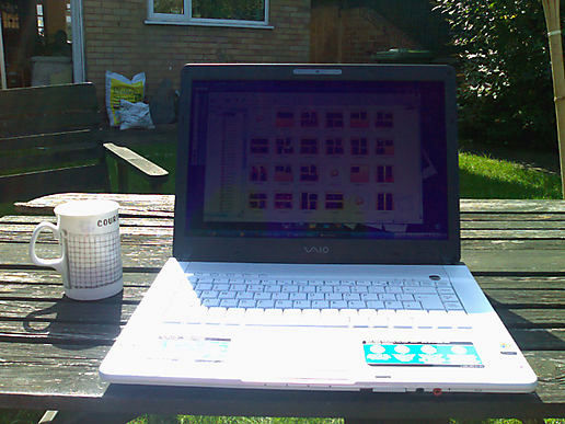 Sunday afternoon wireless moblogging...