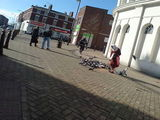 Pidgeon lady. Every town has got one!