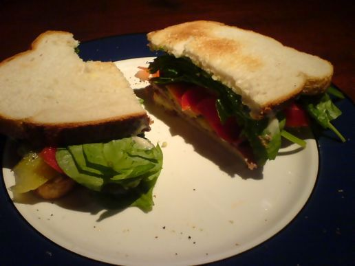 More snacks: roast beef sandwich
