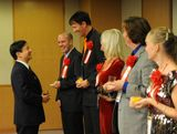 A good laugh with Naruhito, in Tokyo (Japan)