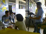 Interviewed by the Kids News, in Paramaribo (Surinam).