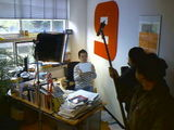Japanese filmcrew filming my work and my life.