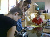 Shooting a preschool documentary, in Havana (Cuba).