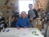 Shooting at the studio of Miffy (Nijntje) creator Dick Bruna, in Utrecht