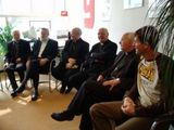Visit of the cardinal and the bisshops at KRO, in Hilversum (NL).