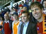 Visiting the friendly soccermatch Switzerland-Holland, in Geneva (Swiss).