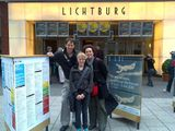 With Merle and director Hilt Lochten at Kurzfilmtage, in  Oberhausen (Germany).
