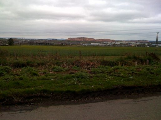 The flatlands and bings of Broxburn