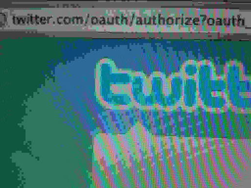 Moblog authorised to use Twitter account?