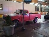 Everyone loves a pink truck