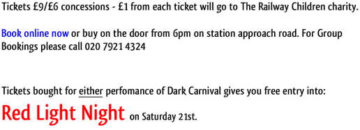 Dark Carnival - Tomorrow night and Saturday night