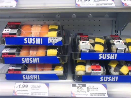 Sushi in Tesco!