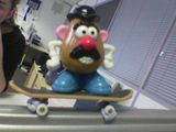 It's official: Mr PotatoHead rides goofy!