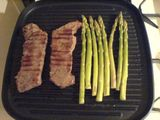 Sirloin and asparagus...