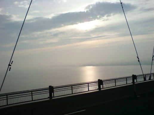 Morning on the humber bridge