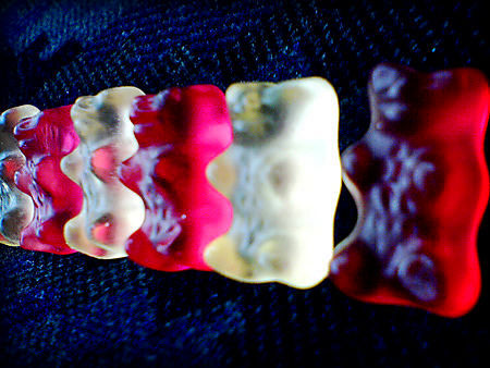 Gummi bears all in a row