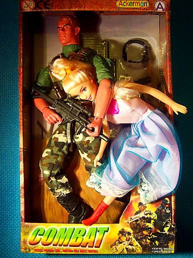 Rambo kidnapped Barbie!