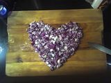 Red onions in love.