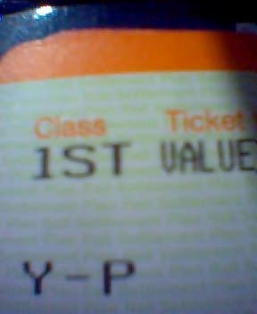 I'm in 1st class! By accident!