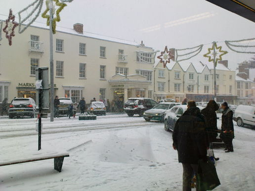 Stratford-upon-Avon in the snow