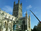 New gargoyle for Gloucester Cathedral