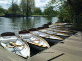 Rowing boats with a Shakespeare theme