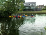 William's first kayak session in Stratford