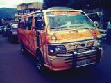 Finally... right place, right time. Meet the Justin Bieber bus of  Kigali