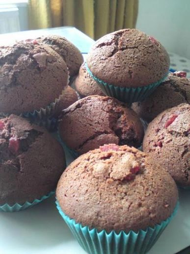 Cherry & chocolate cupcakes