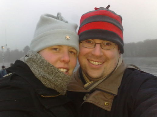 Jules and I on windermere