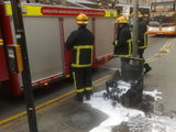 Bin Fire manchester picadilly square