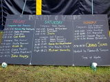 The poetry tent lineup