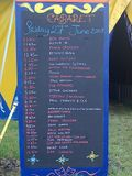today's lineup in the cabaret tent