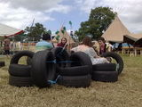 tyre seating on the greenpeace field