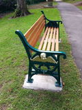 Posh new bench in Beechwood Park, Newport.