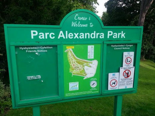Welcome to Alexandra Park, Penarth.