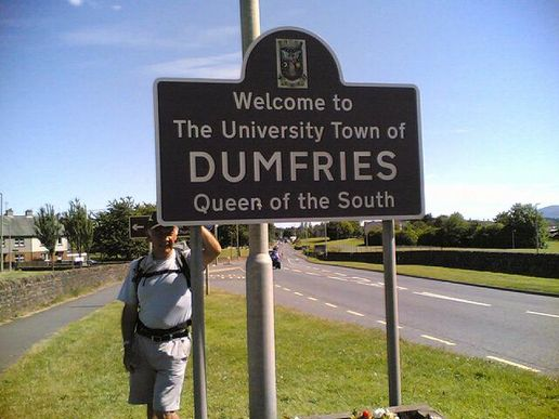 Dumfries - tonights resting place