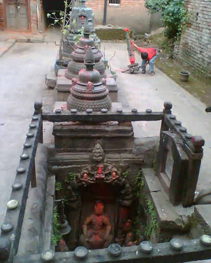 Ordinary courtyard in Patan